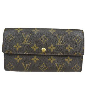 LOUIS VUITTON Credit Long Bifold Wallet Purse Mono
